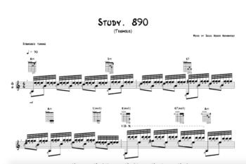 Study. 890 - Tremolo (Standard Notation) - snippet - Jesus Hilario Hernandez