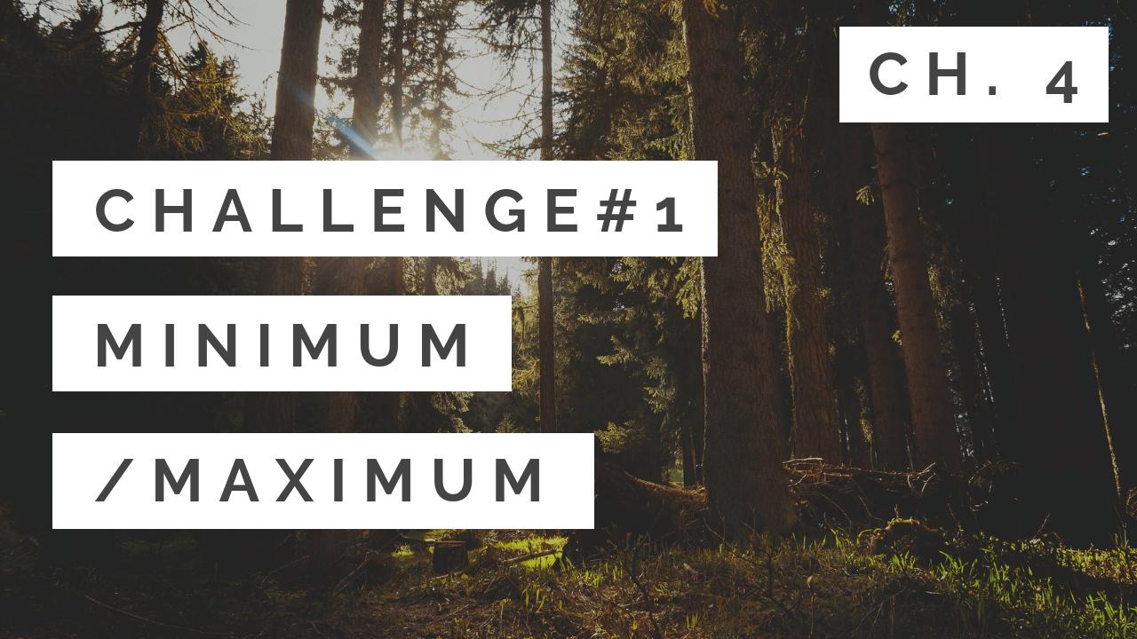 Chapter 4 - #1: Minimum/Maximum - Tony Gaddis - Starting Out With C++