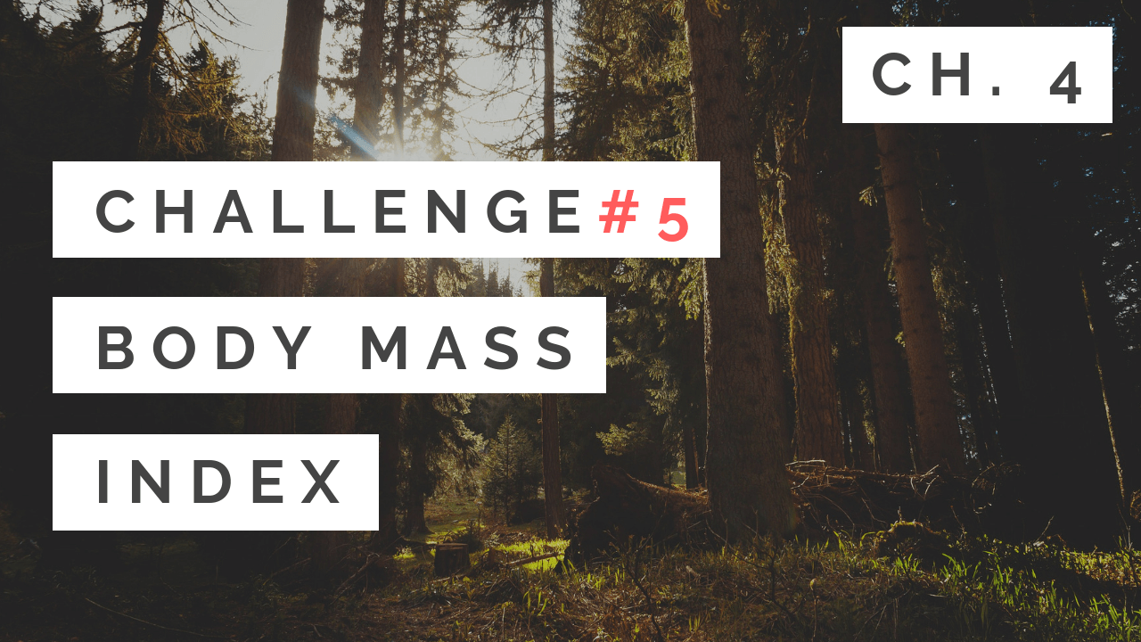 #5: Body Mass Index - Chapter 4 - Tony Gaddis - Starting Out With C++